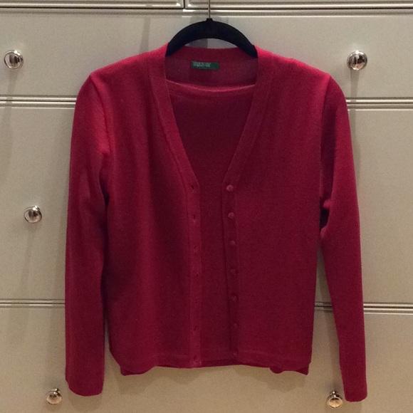 Benetton Cardigan and 3/4 sleeve sweater set